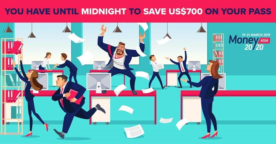 Last Chance to save $450 your pass for Money20/20 Asia